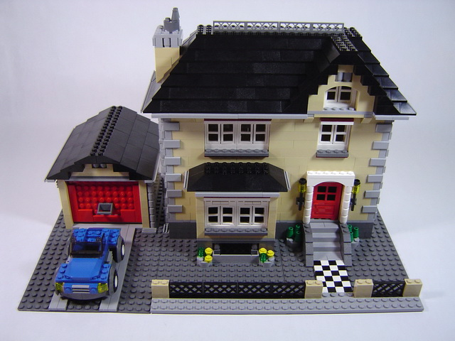 garage construction ideas - 4954 Model Town House LEGO Blog